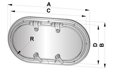 Porthole type PM21 - French Marine Motors Ltd