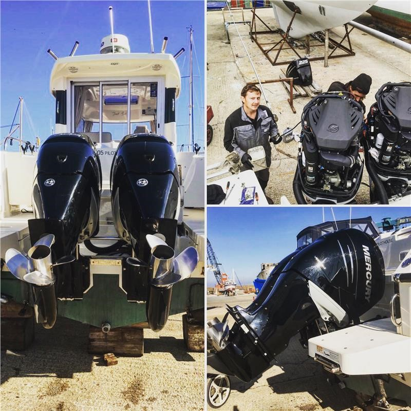 Full Service On A Pair Of Mercury Verado 225hp Outboards On a Quicksilver 905