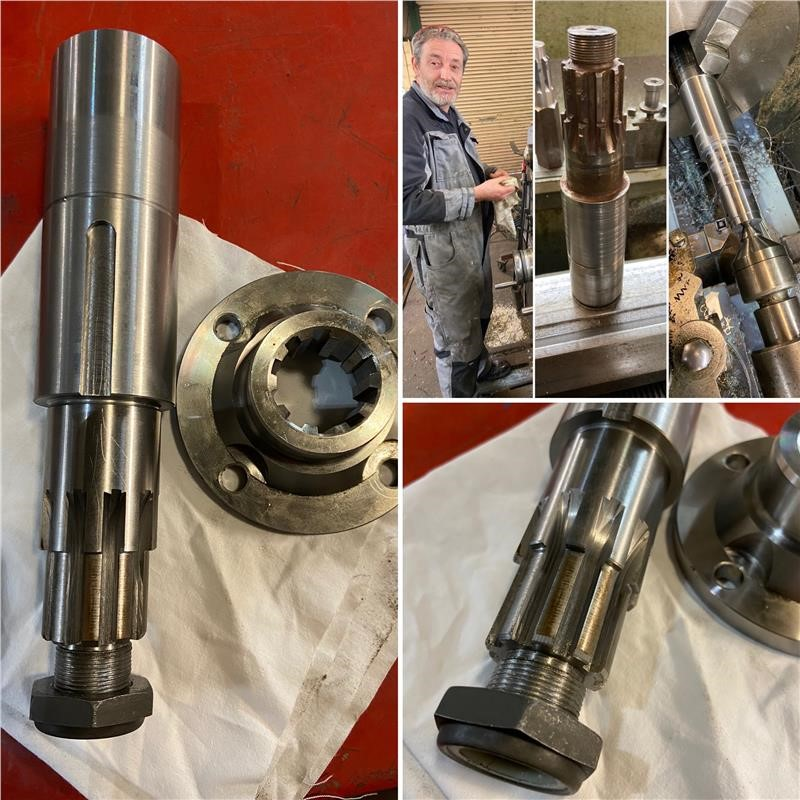 Newly Machined Output Shaft Complete