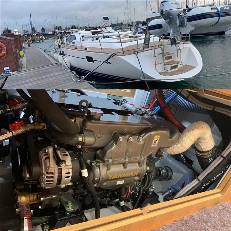 Pre Delivery Inspection On A Yanmar 4JH80-CR Onboard An Oyster Yacht