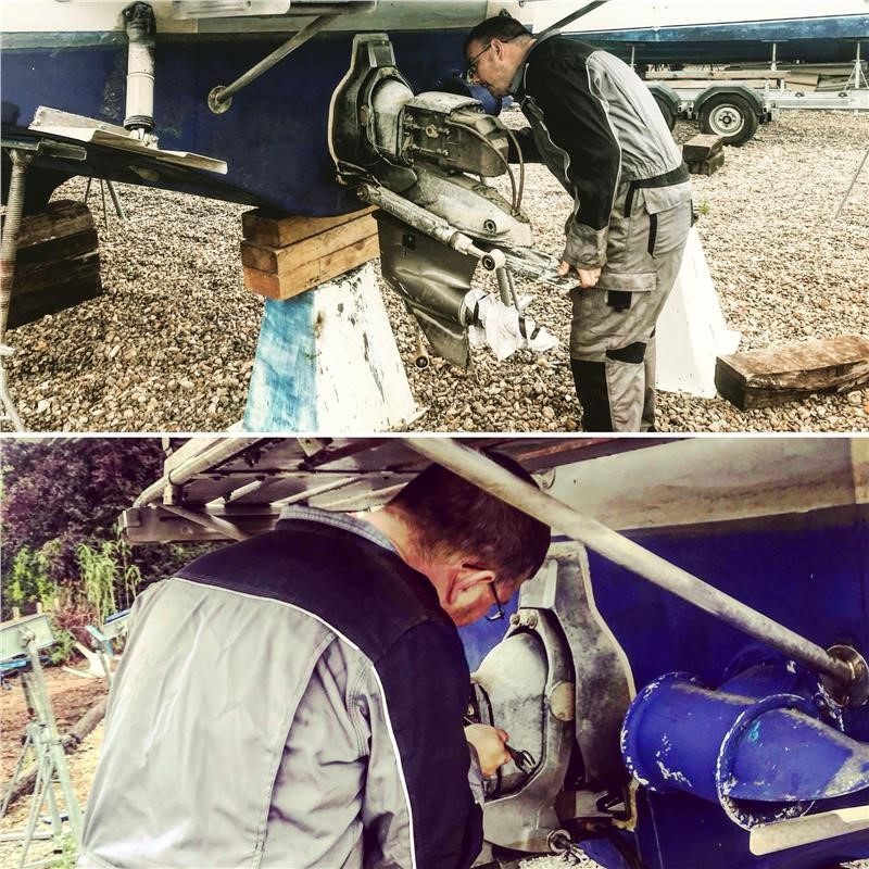 Fitting A Yanmar Zt370 Sterndive on the Norfolk Broads