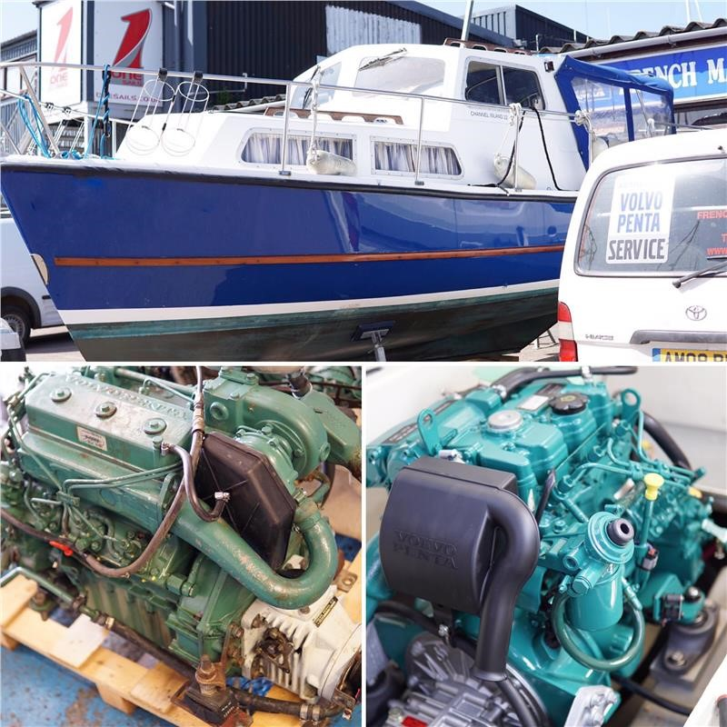 Volvo Penta 2003T Engines Replaced By D1-30s On A Channel Island 22
