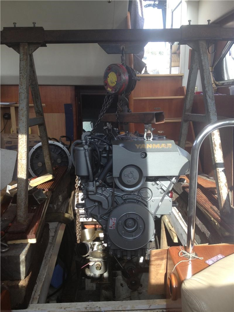 Marine Engine installation at Suffolk Yacht Harbour