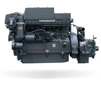 Yanmar 6HA2M-DTE marine diesel engine 405hp M-rating