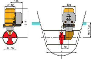 35kgf Bow thruster dimensions