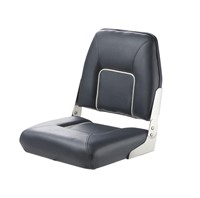 Vetus First Mate Deluxe Folding Seat, Dark Blue With White Seams, CHFSB