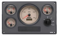Vetus Synthetic Engine Instrument Panels. Type MP34, 4 White Or Cream Instruments. MP34BN12A