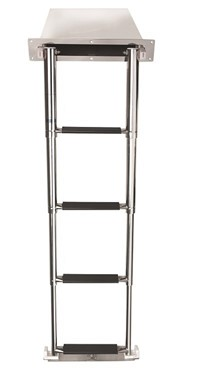 Vetus Telescopic Stainless Steel Boarding Ladder With 4 Steps, Stowage Cassette And Synthetic Grips.