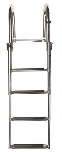 Vetus Telescopic Stainless Steel, Boarding Ladder With 4 Steps, Luxury Synthetic Grips, SLT4D